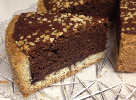 Crostata frangipane al cacao, con pasta frolla integrale