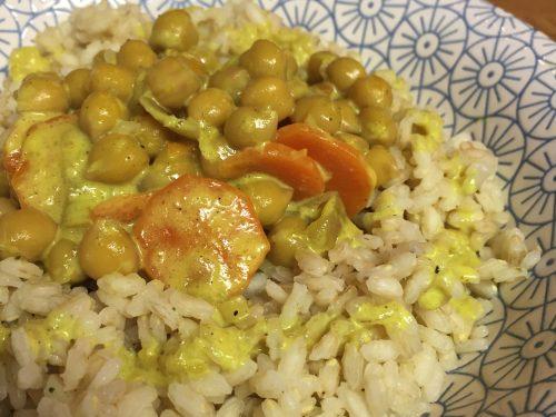 Curry di ceci velocissimo, ricetta vegan e senza glutine