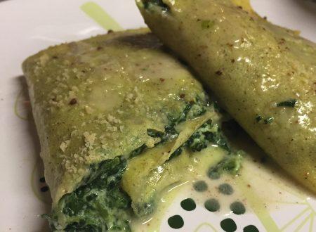 Crespelle senza glutine con ricotta e spinaci