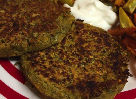 Burger di lenticchie vegetali
