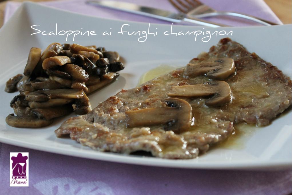 Scaloppine ai funghi champignon
