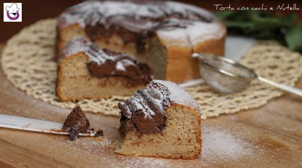 Torta cachi e Nutella