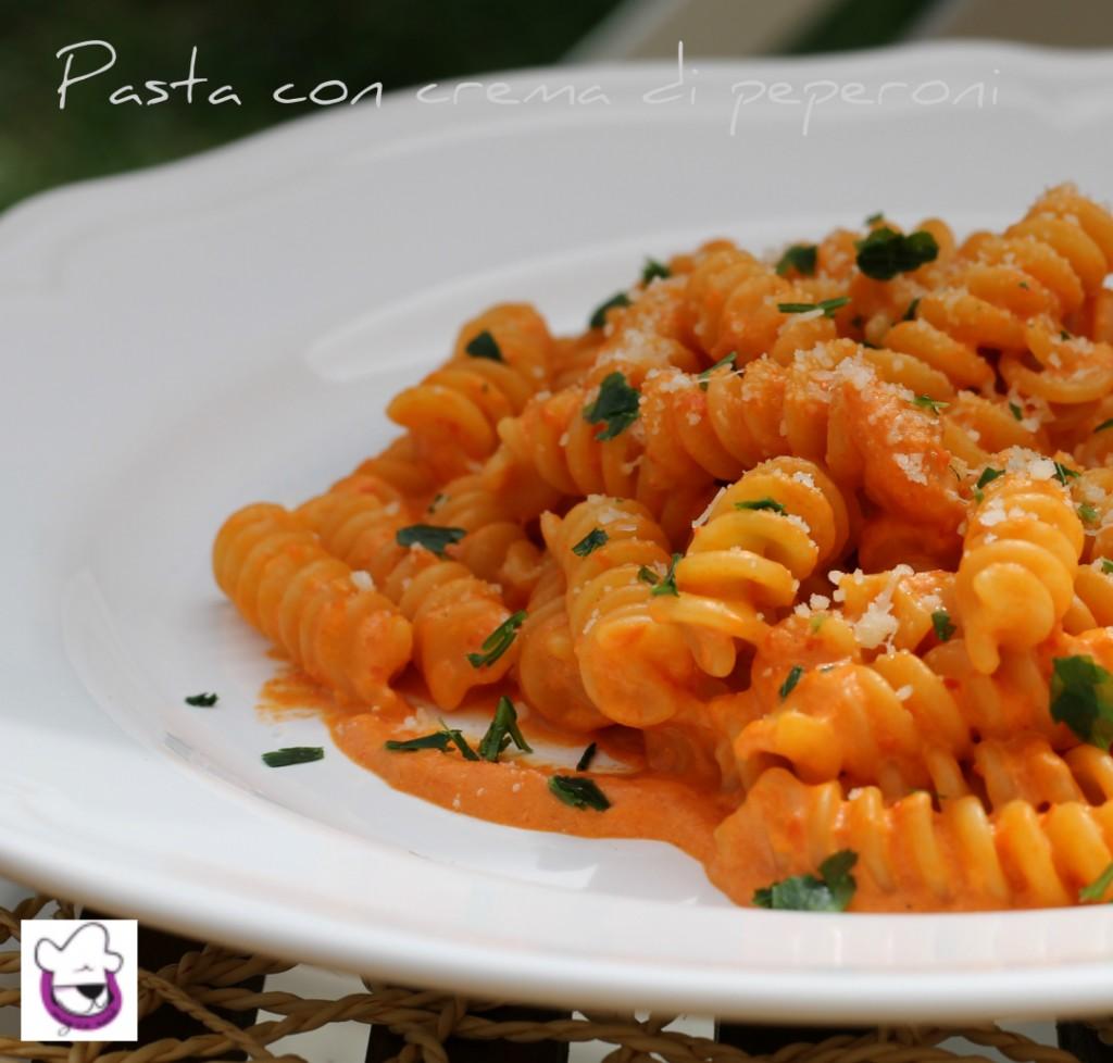 Pasta con crema di peperoni 2