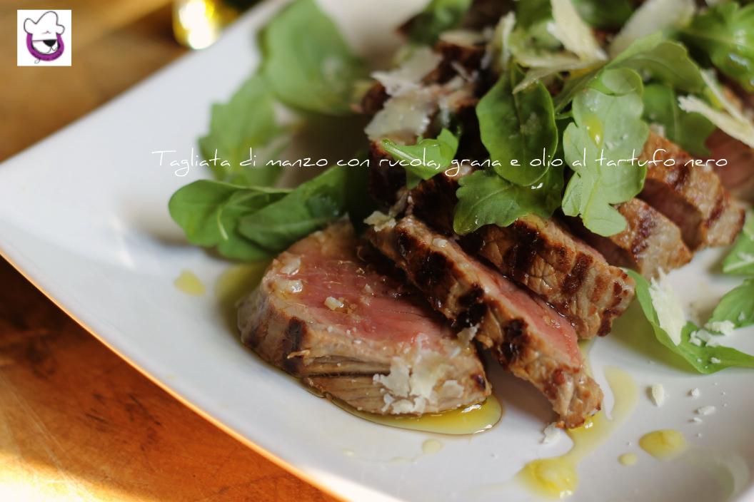 tagliata di manzo con rucola, grana e olio al tartufo nero 2