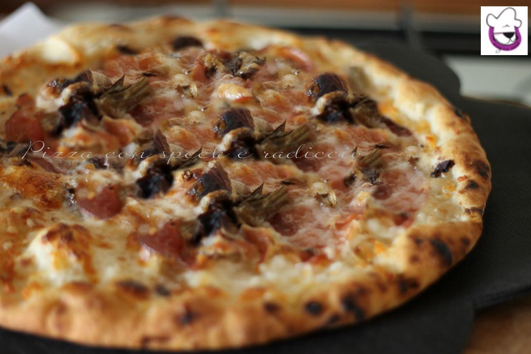 Pizza con speck e radicchio 3