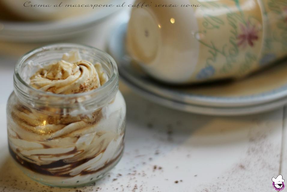 Crema al mascarpone al caffè senza uova
