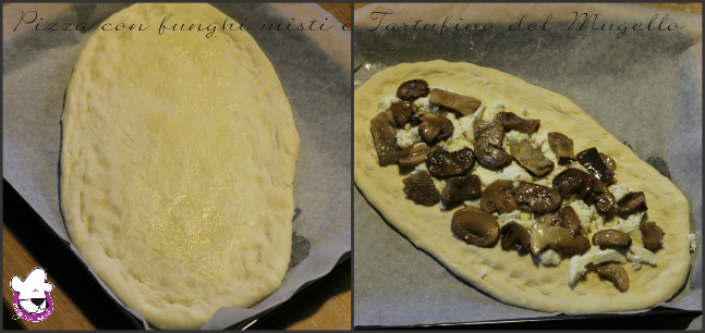 Collage 1 Pizza con funghi misti e Tartufino del Mugello
