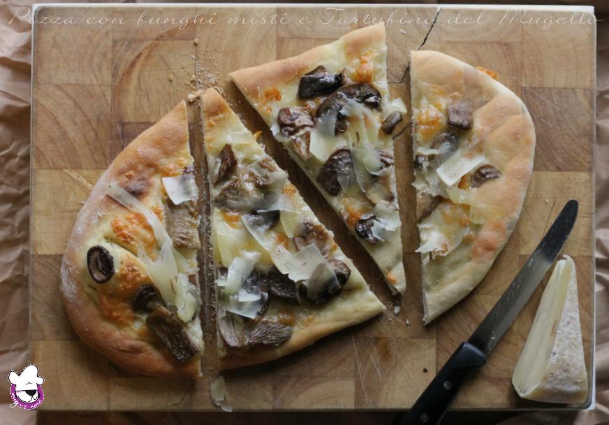 Pizza con funghi misti e Tartufino del Mugello 3
