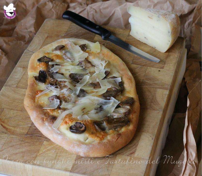 Pizza con funghi misti e Tartufino del Mugello finale