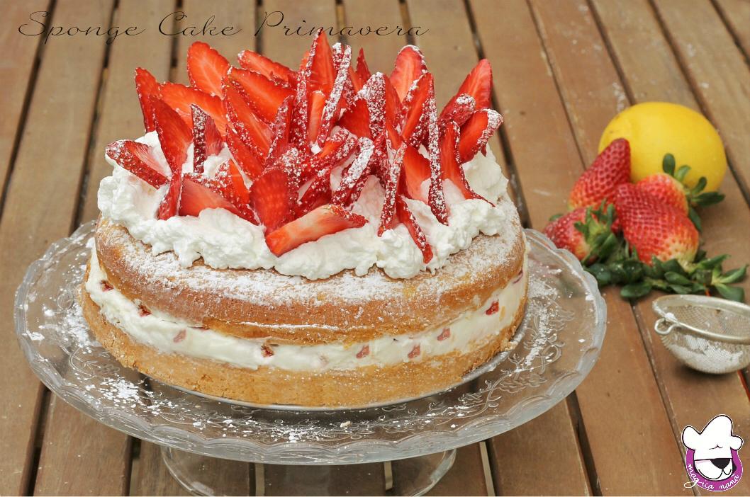 Sponge cake Primavera