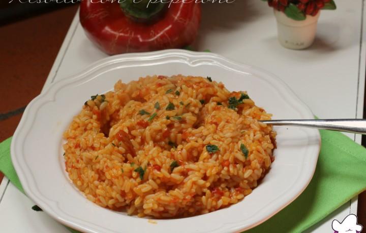Risotto con i peperoni rossi, ricetta Bimby