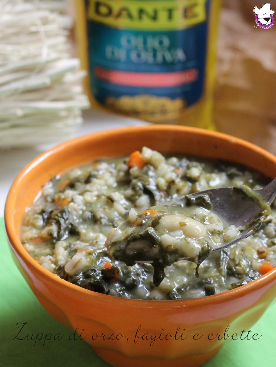 Zuppa di orzo, fagioli e erbette 2