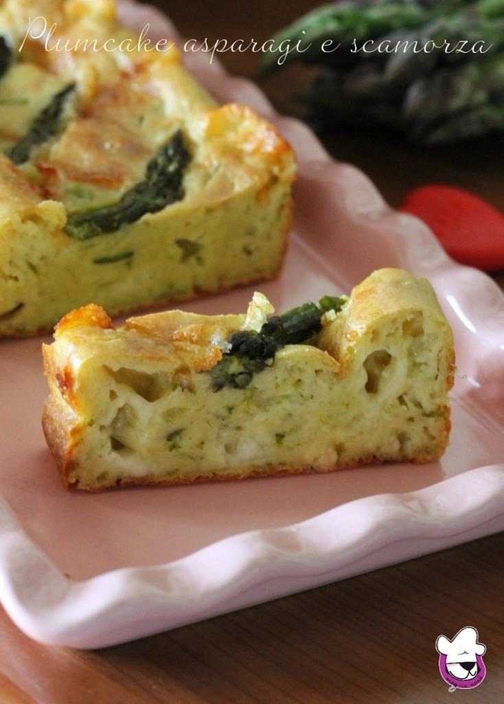 Plumcake salato agli asparagi e scamorza