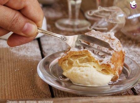 Eclair con crema chantilly, ricetta tradizionale e ricetta bimby