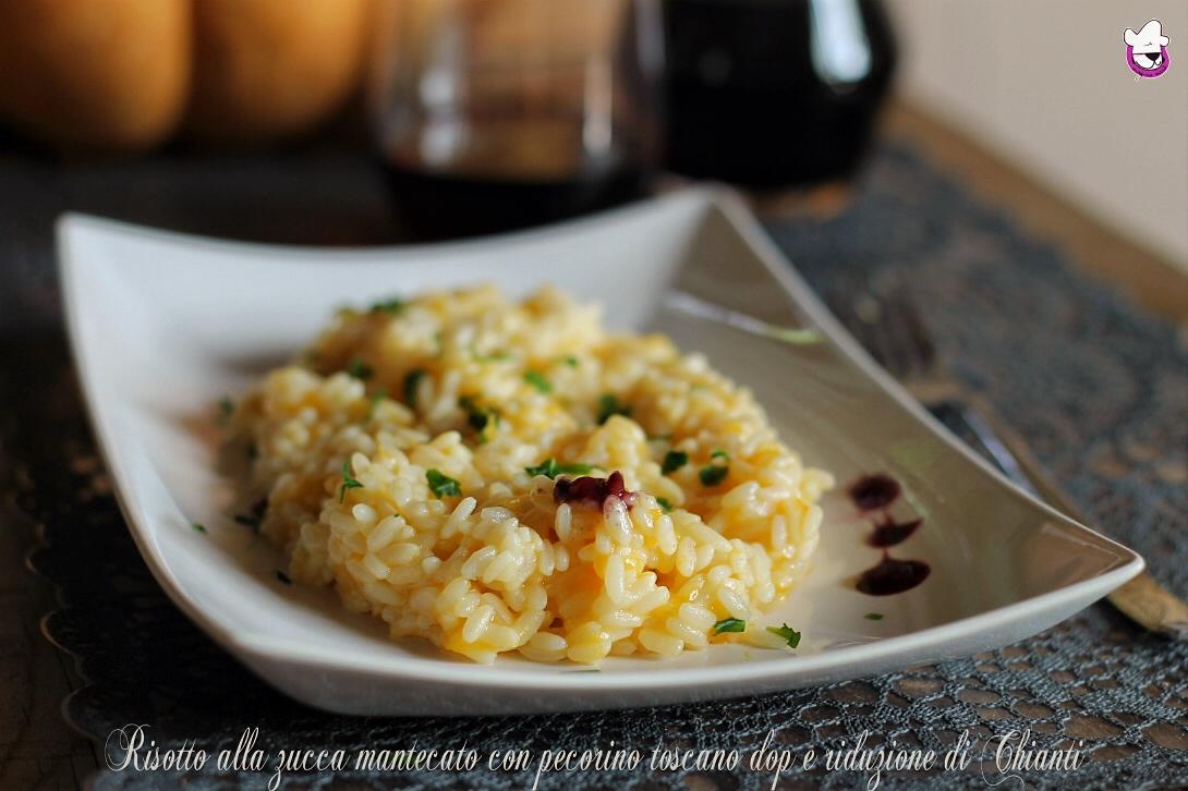 Risotto alla zucca mantecato con pecorino toscano dop e riduzione di Chianti