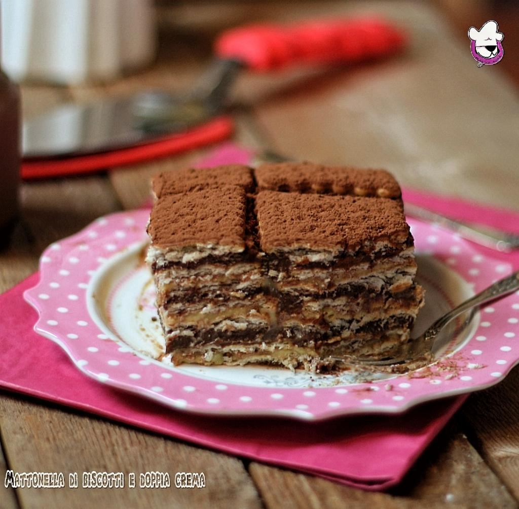 Mattonella di biscotti & doppia crema