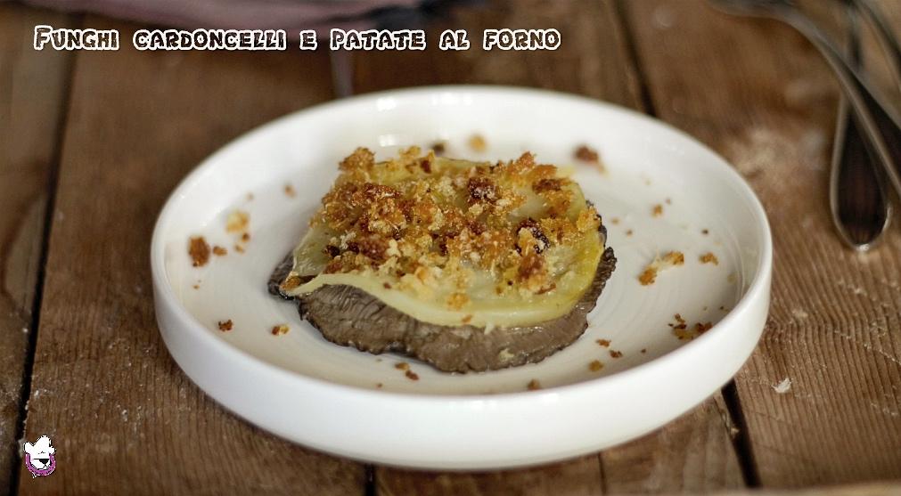 Funghi cardoncelli e patate al forno