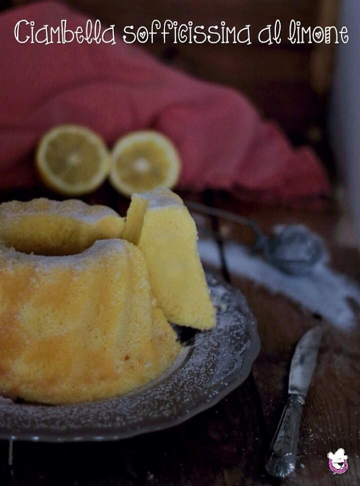 Ciambella soffice al limone  Pasticciando con Magica Nanà