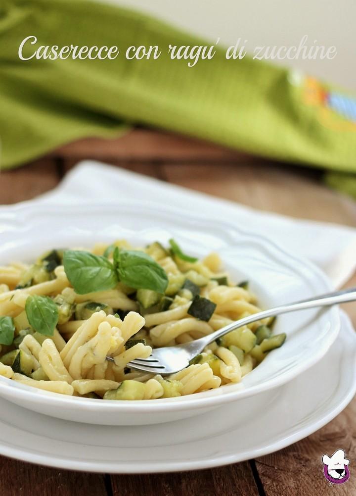 Caserecce con ragù di zucchine