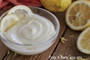 Crema al limone senza uova, ricetta con e senza bimby