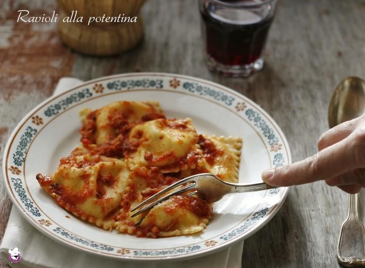 Ravioli alla potentina, ricetta Lucana