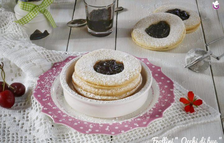 """Biscotti """" Occhi di bue """", ricetta tradizionale e ricetta Bimby"""