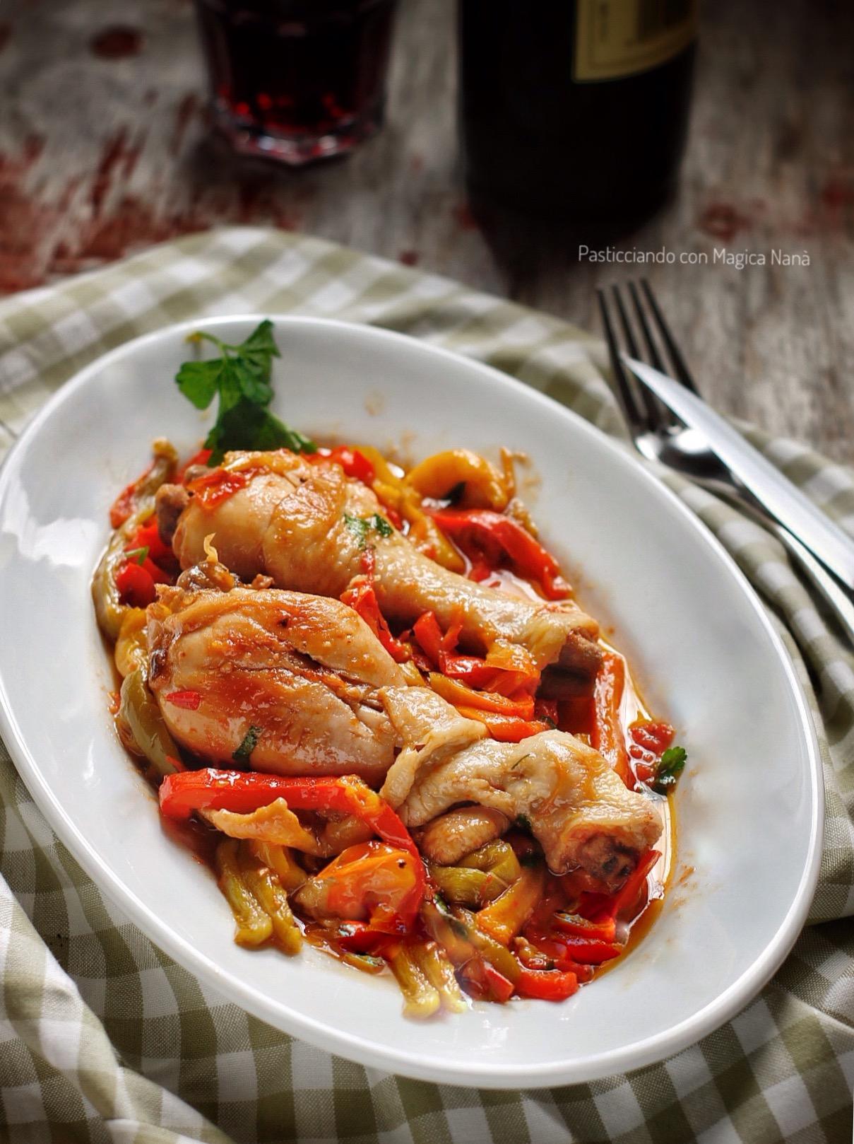 Pollo co peperoni