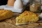 Frittata di riso con formaggio spalmabile