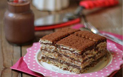 Mattonella di biscotti & doppia crema, ricetta tradizionale e ricetta Bimby