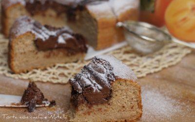 Torta con cachi e Nutella
