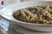 Risotto ai funghi champignon, ricetta Bimby e ricetta tradizionale
