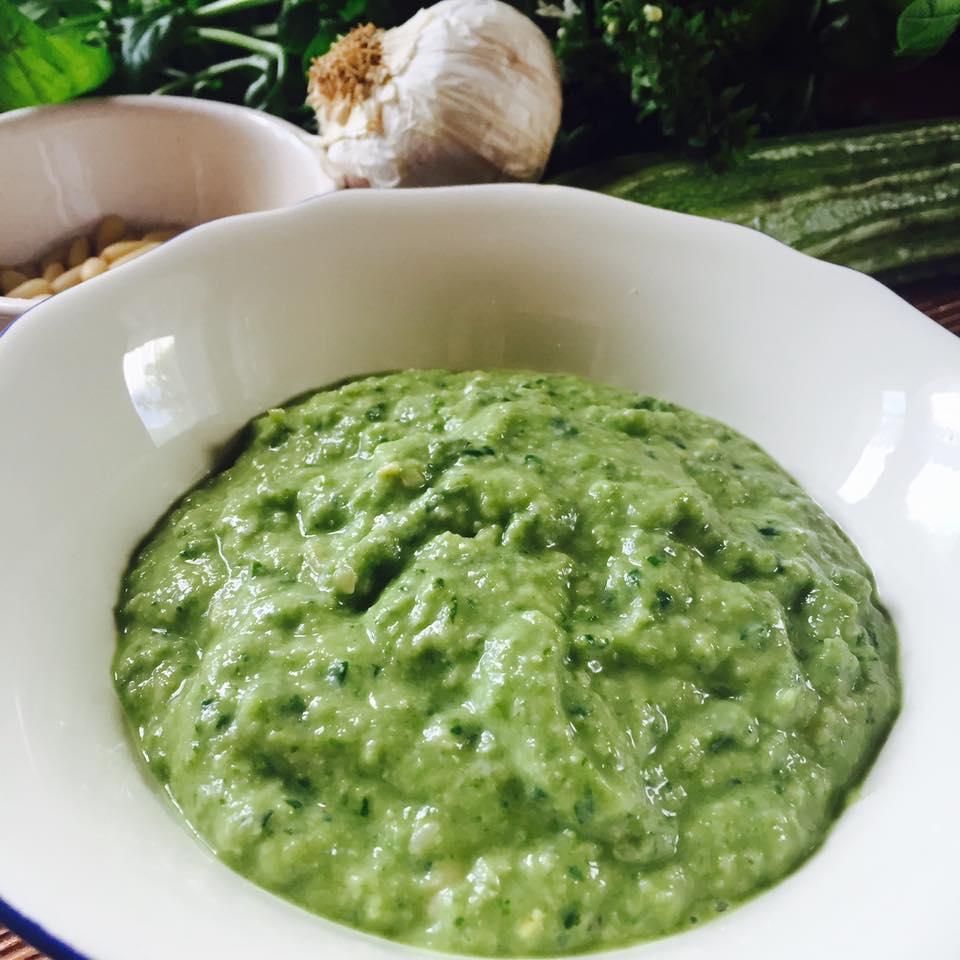 Pesto di zucchine romanesche