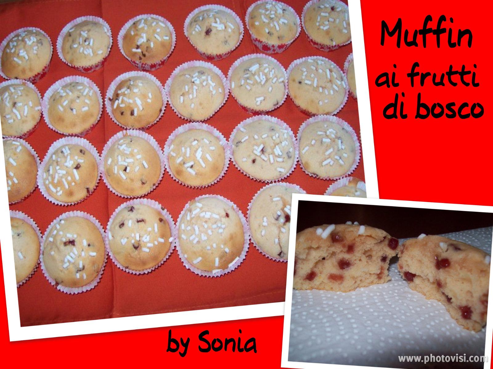 Muffin con gocce di frutti di bosco - Blog Dolcezze di Sonia