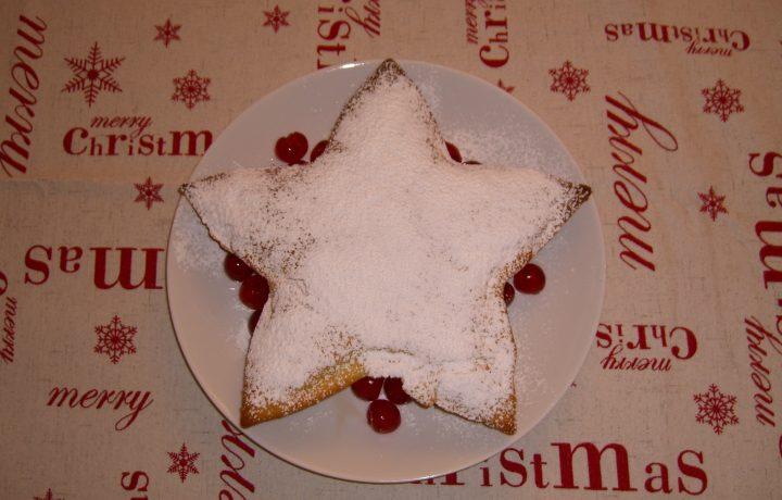 Torta a stella al cioccolato bianco