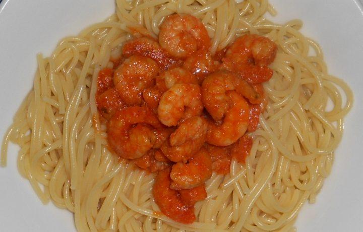 Spaghetti con code di gambero