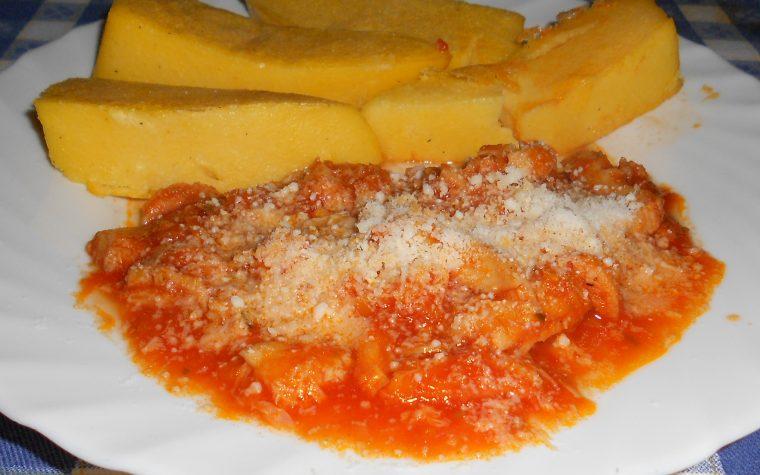 Trippa con polenta