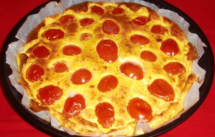 Frittata al forno con pomodorini freschi di stagione