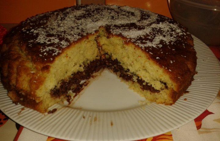 Torta soffice cocco e Nutella