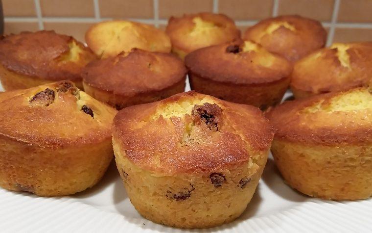 Muffin farina di riso e uvetta