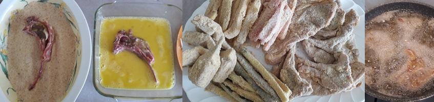 Agnello e verdure fritte