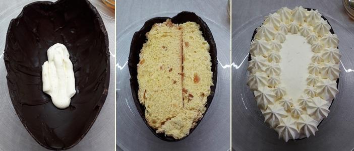 Tiramisù Colomba e Arancio nell'uovo di cioccolato