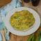 Frittata di fave, pancetta e caciocavallo