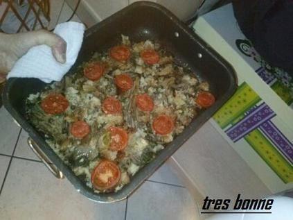 Contorno di funghi ripieni al forno