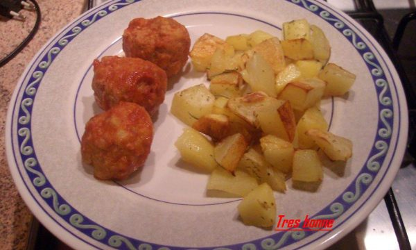 Polpette e patate al forno