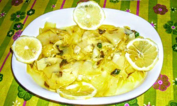 Zucchine alla julienne limone e menta