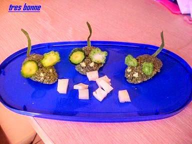 Quenelle di spinaci a forma di topolini