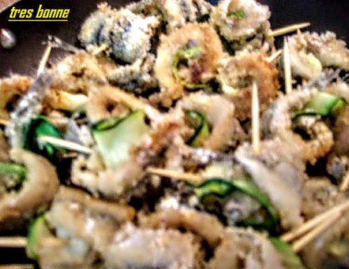 Involtini di alici con zucchina