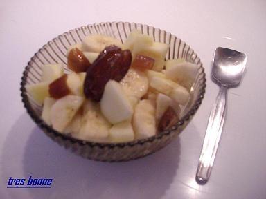 Dessert frutta gelato gusto esotico