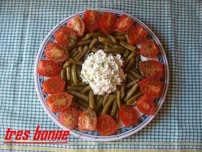 Insalata fresca con fagiolini