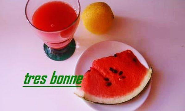 Succo di frutta anguria e limone